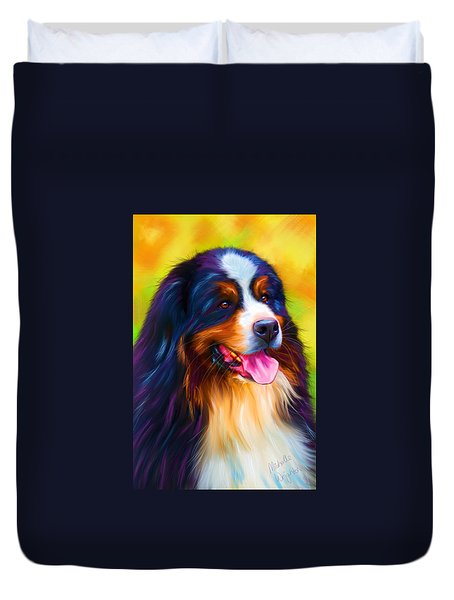 Colorful Bernese Mountain Dog Paintings