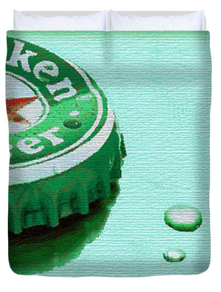 Heineken Cap Green Duvet Cover