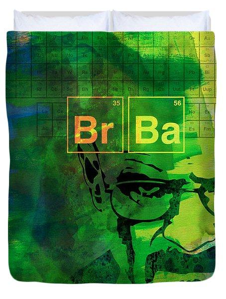 Heisenberg Watercolor Duvet Cover