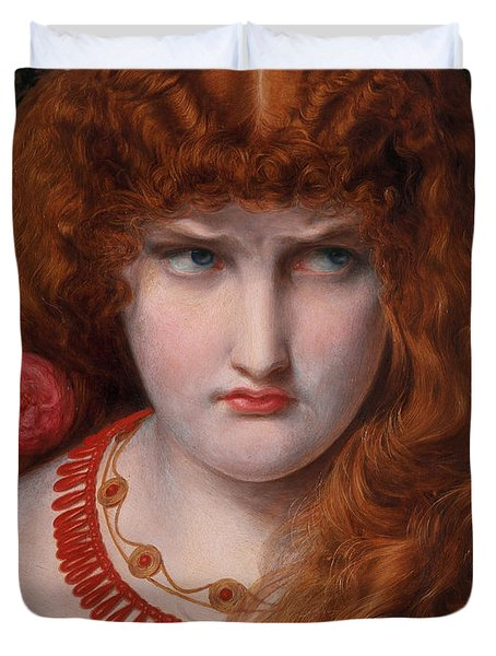 Helen Of Troy Duvet Cover by Anthony Frederick Augustus Sandys