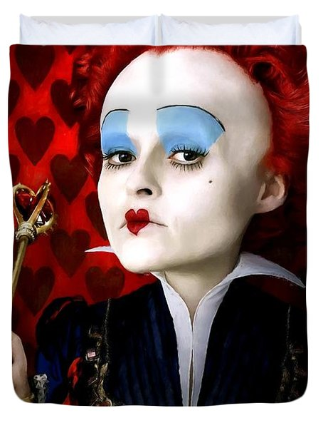 Helena Bonham Carter As The Red Queen In The Film Alice In Wonderland Duvet Cover