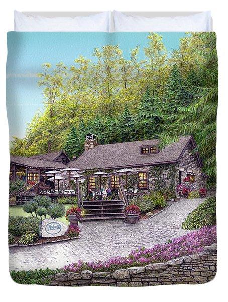 Helen's Restaurant At Seven Springs Duvet Cover by Albert Puskaric