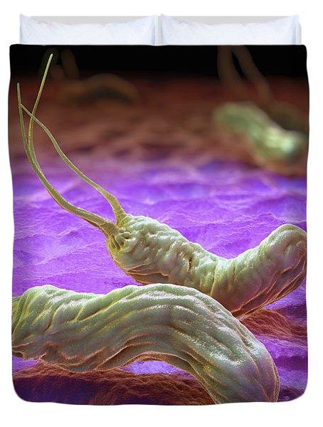 Helicobacter Pylori Duvet Cover