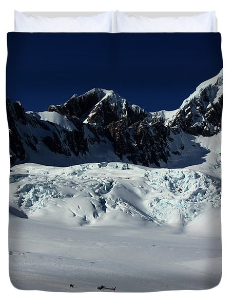 Duvet Cover featuring the photograph Helicopter New Zealand  by Amanda Stadther