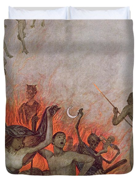 Hell Duvet Cover by Hans Thoma