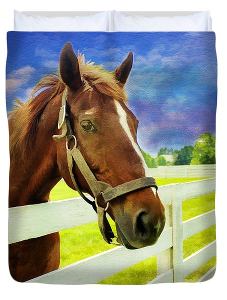 Hello From The Bluegrass State Duvet Cover by Darren Fisher