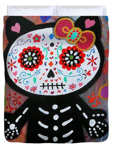 Hello Kitty Dia De Los Muertos Duvet Cover