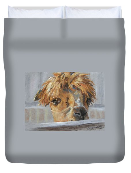 Hello Duvet Cover by Lori Brackett
