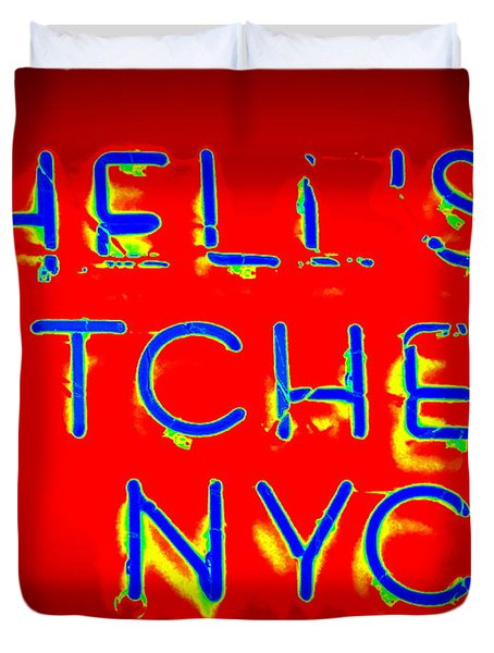 Hell's Kitchen Nyc Duvet Cover by Ed Weidman