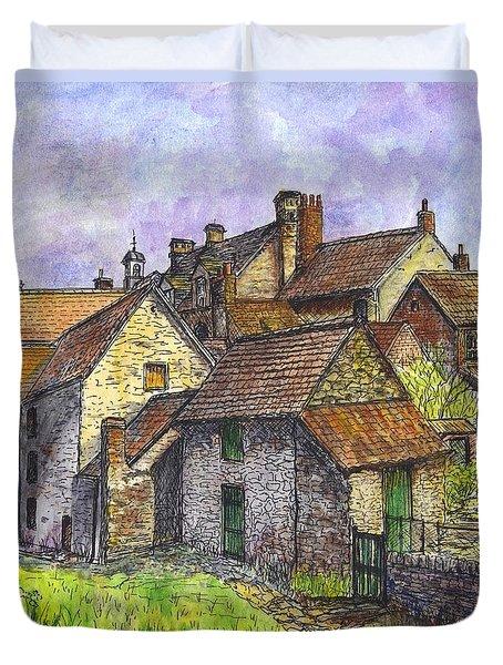 Helmsley Village -  In Yorkshire England  Duvet Cover by Carol Wisniewski