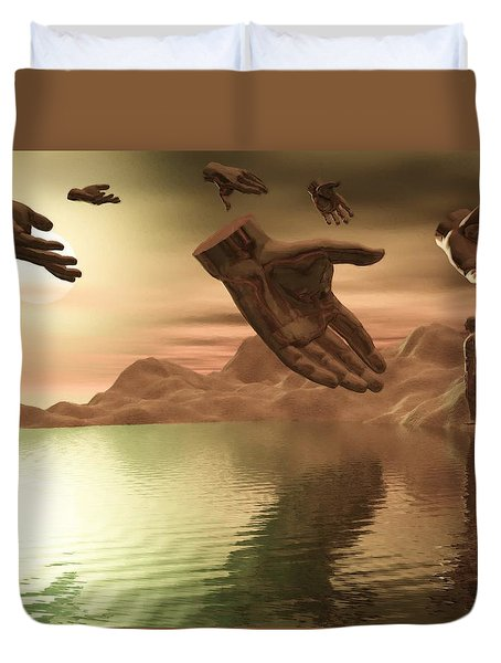 Helping Hands Duvet Cover