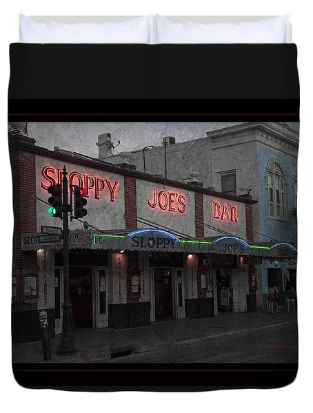 I Heard I Was In Town Duvet Cover by John Stephens