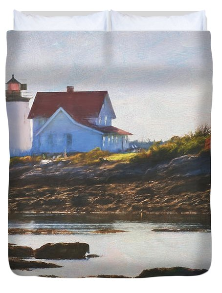 Hendricks Head Lighthouse - Maine Duvet Cover