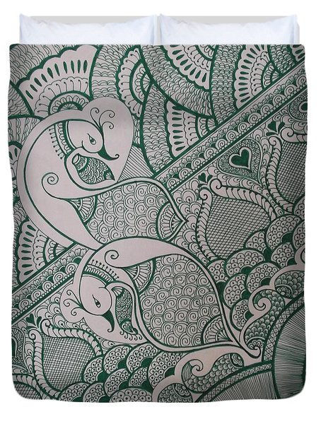 Henna Duvet Cover by M Ande
