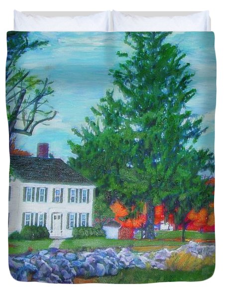 Henry Warren House And Barn Duvet Cover