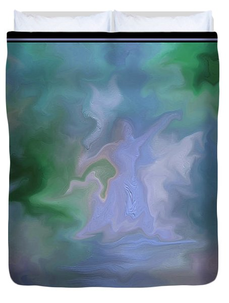 Duvet Cover featuring the painting Her Dance by Steven Lebron Langston