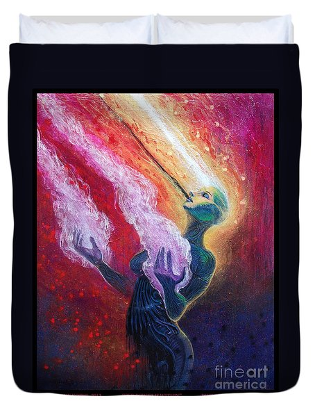 Her Power Is Within Duvet Cover by Tony Koehl