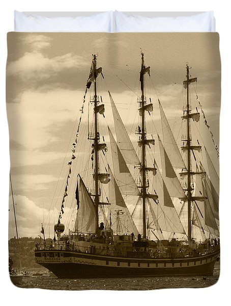 Her Russian Backside Pallada Duvet Cover by Kym Backland
