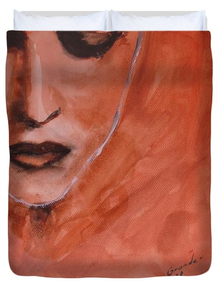 Looking To Her Soul Duvet Cover