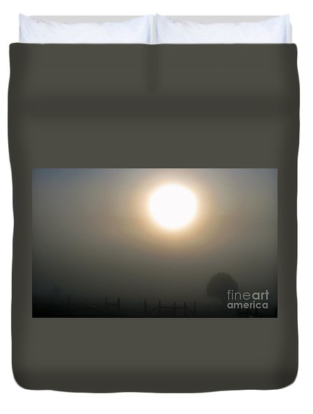 Duvet Cover featuring the photograph Here Comes The Sun  by Juls Adams