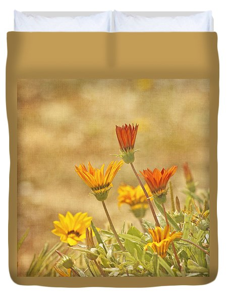 Here Comes The Sun Duvet Cover by Kim Hojnacki