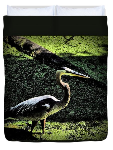 Duvet Cover featuring the photograph Here Fishy Fishy by Robert McCubbin