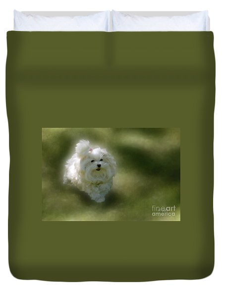 Here She Comes Duvet Cover by Lois Bryan