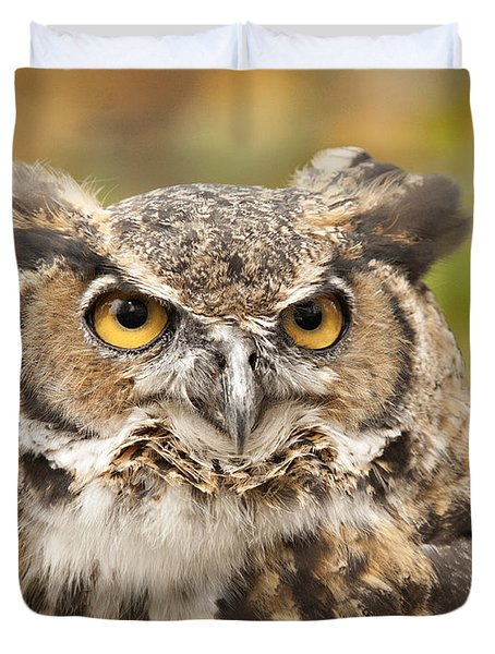 Here's Looking At You Duvet Cover by Carol Lynn Coronios