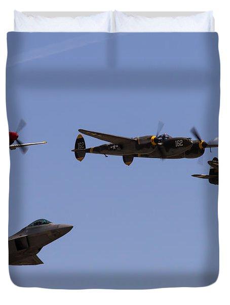 Heritage Flight Of Four Duvet Cover