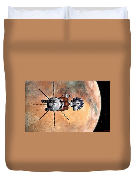 Hermes1 Realign Orbital Path Duvet Cover by David Robinson