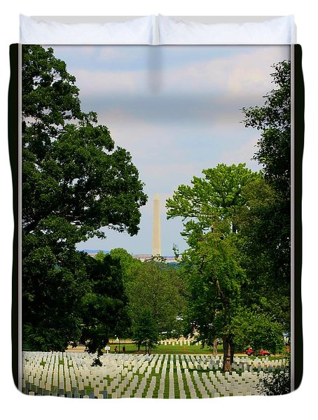 Heroes And A Monument Duvet Cover by Patti Whitten
