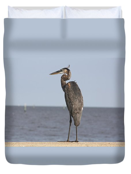 Heron Duvet Cover by Donna G Smith