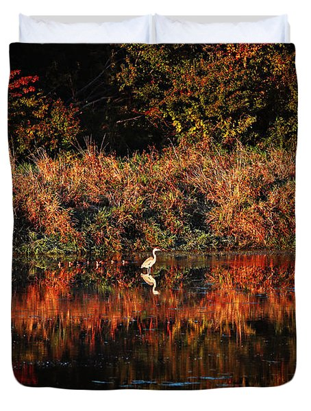 Heron Hideaway Duvet Cover by Elizabeth Winter
