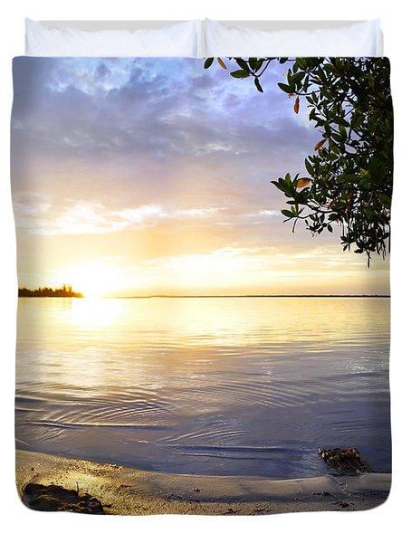 Heron Sunrise Duvet Cover