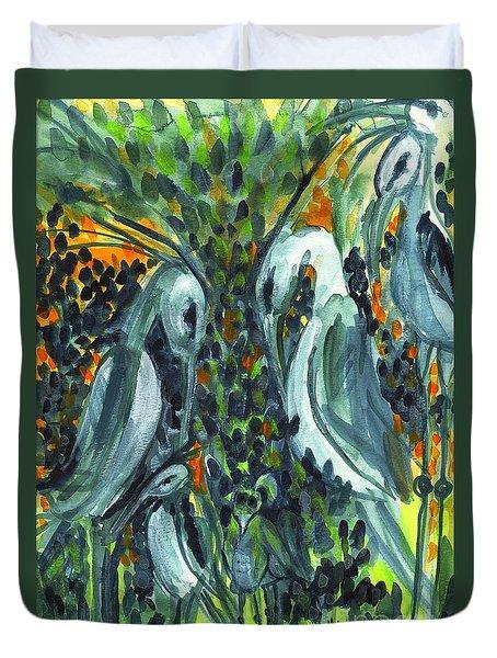 Herons Duvet Cover