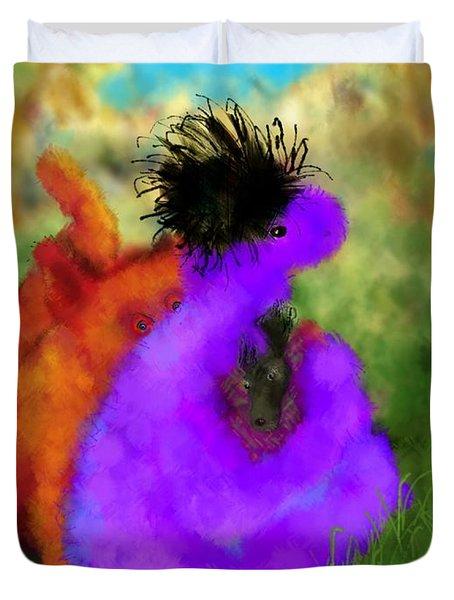 He's Mine Duvet Cover by Mary Eichert