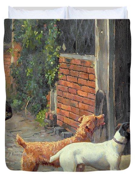 Hesitation Duvet Cover by Alfred Duke