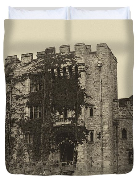 Hever Castle Yellow Plate Duvet Cover by Chris Thaxter
