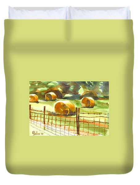 Hey Bales In The Afternoon Duvet Cover by Kip DeVore
