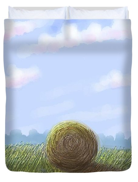 Hey I See Hay Duvet Cover by Stacy C Bottoms