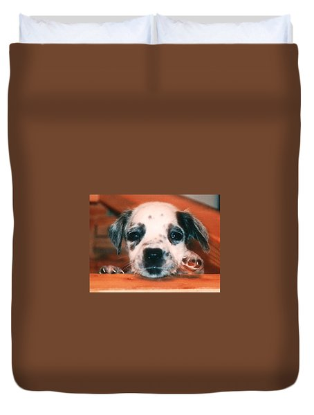Duvet Cover featuring the photograph Dalmatian Sweetpuppy by Belinda Lee