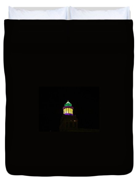 Hibernia Tower - Mardi Gras Duvet Cover