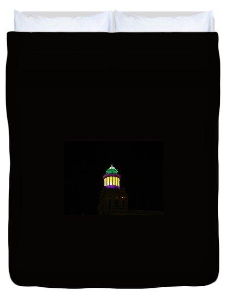 Hibernia Tower - Mardi Gras Duvet Cover