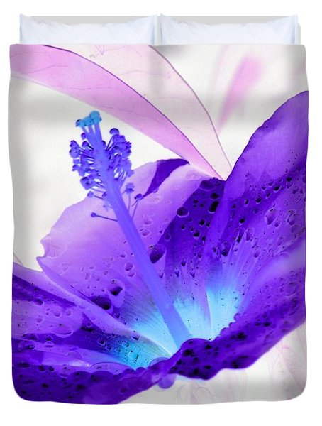Hibiscus - After The Rain - Photopower 754 Duvet Cover
