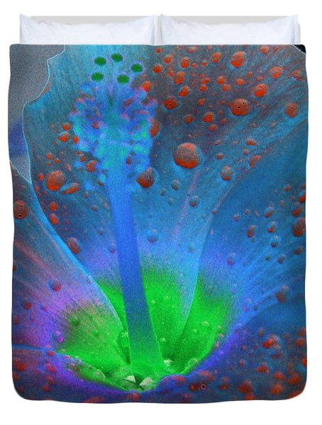 Hibiscus - After The Rain - Photopower 775 Duvet Cover