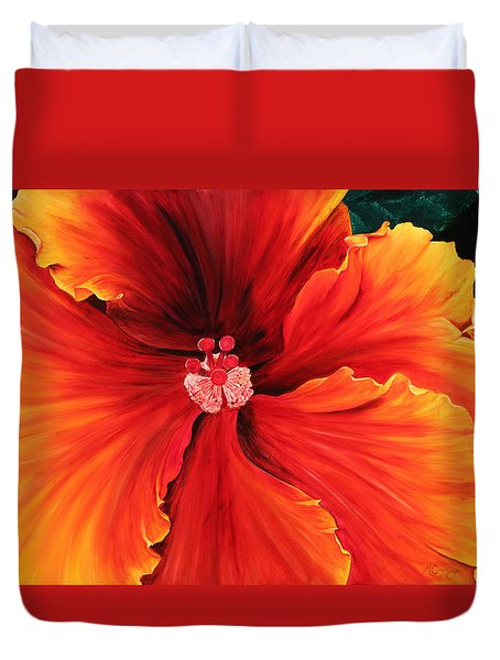 Hibiscus Duvet Cover