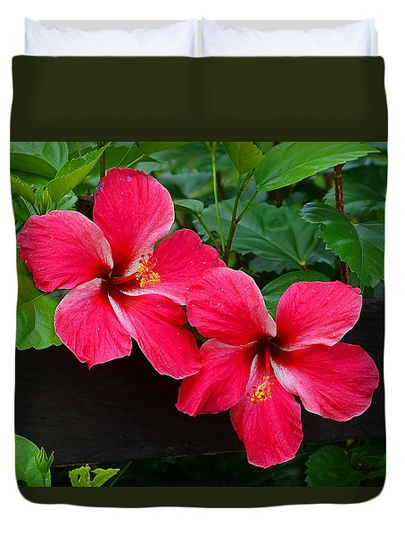 Duvet Cover featuring the photograph Hibiscus Portrait by Blair Wainman