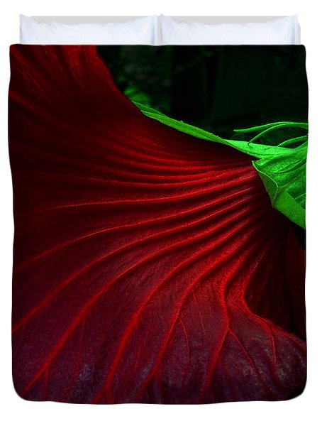 Hibiscus Red Duvet Cover