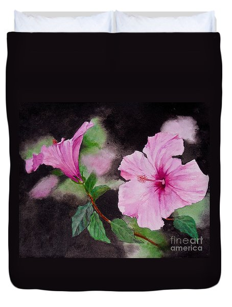 Hibiscus - So Pretty In Pink Duvet Cover
