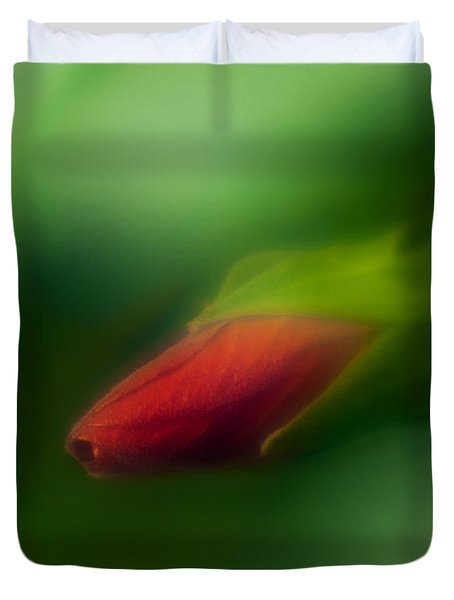 Hibiscus Softly 1 Duvet Cover by Travis Burgess